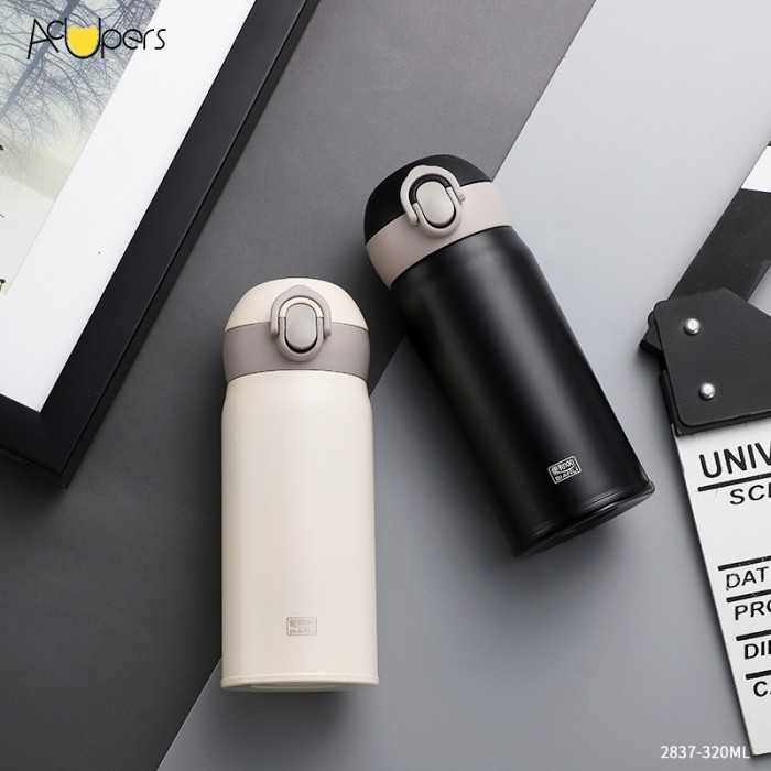 320ml 11oz Double Wall Design SUS 304 Vacuum Thermos Flask Bottle With Flip Top