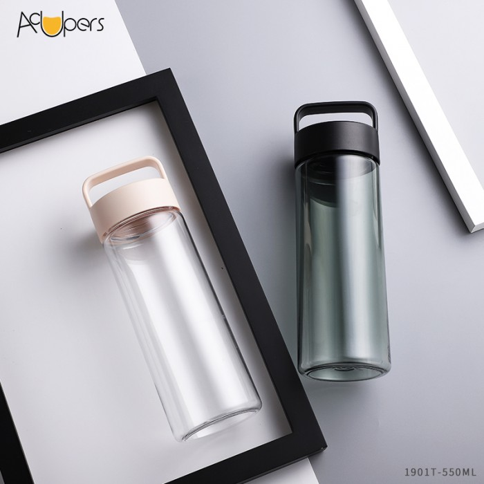 550ml 19oz Eco Friendly Eastman Tritan Water Bottle With Portable Handle And Wide Mouth