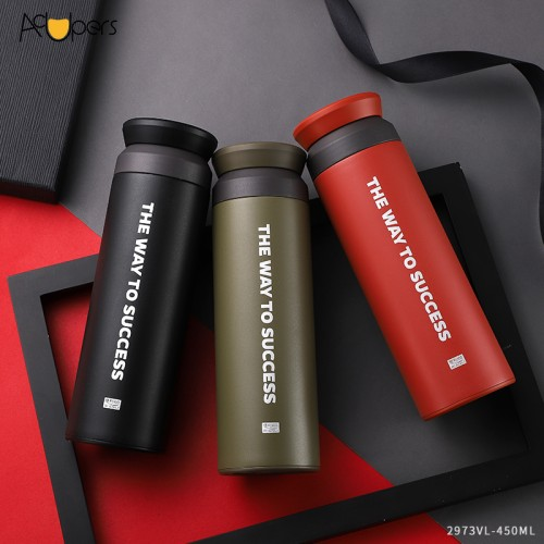 450ml New Eco Friendly Double Wall 316 Titanium Stainless Steel Thermos Vacuum Bottle With Tea Strainer