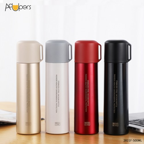 500ml 17oz Portable Double Wall Vacuum Stainless Steel Seal Water Bottle Thermos