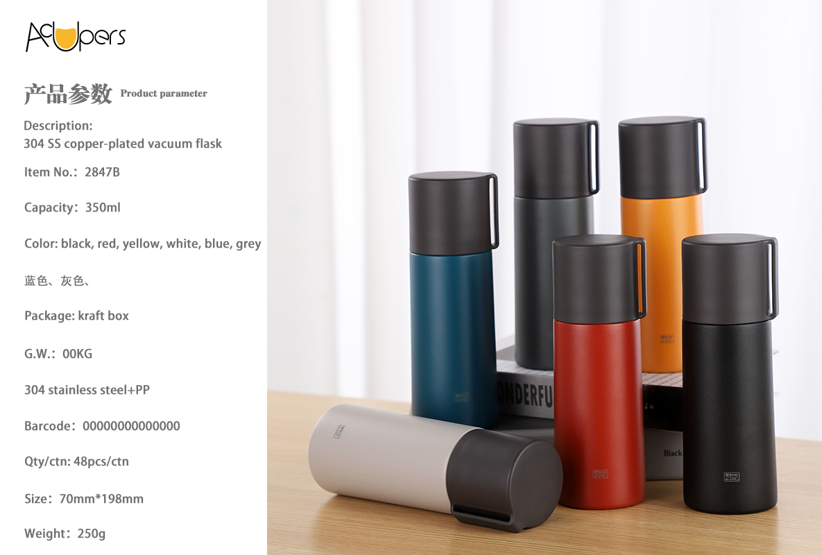 350ml 12oz Double Wall 304 Stainless Steel Thermos Flask On The Go For Hot And Cold