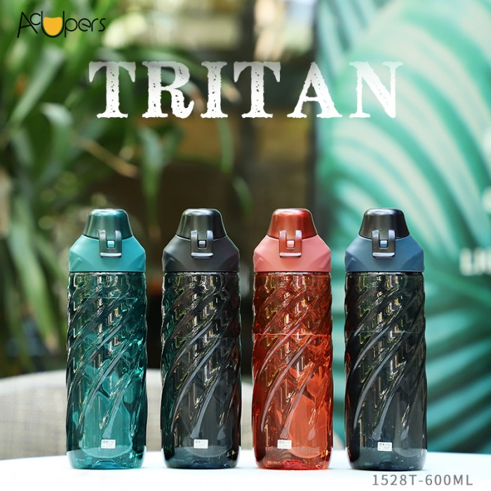 600ml 20oz Portable Eastman Tritan Sports Bottle With Flip Top And Silicone Strap