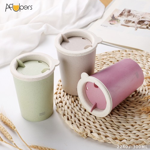 10 oz 300ml Hot Sale New Color BPA Free Double Wall Espresso Cup With Lid