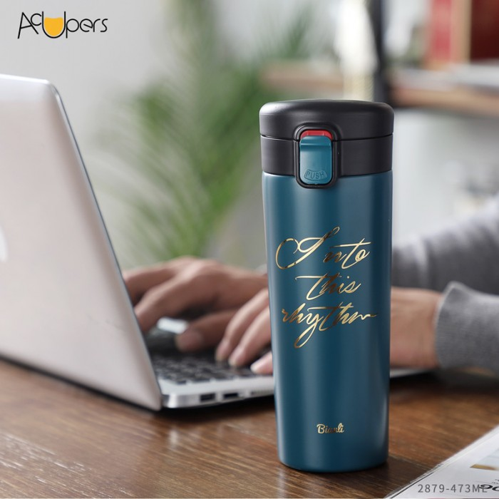 473ml 16oz Gift Type Double Wall 304 Stainless Steel Sealed Water Bottle For Coffee With Wide Mouth