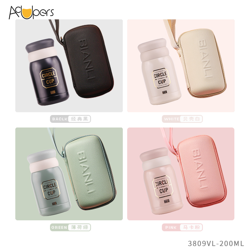 200ml 7oz Mini Double Wall SUS 304 Vacuum Bottle Insulated Cup With Tea Strainer