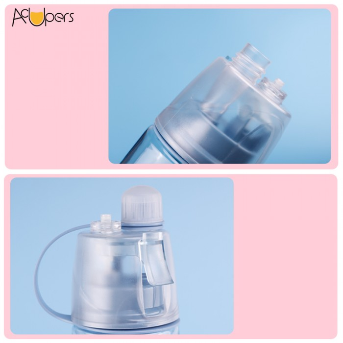 600ml 20oz Eastman Tritan Misting Sports Water Bottle Sprayer Cup For Fitness Camping Hiking Outdoor