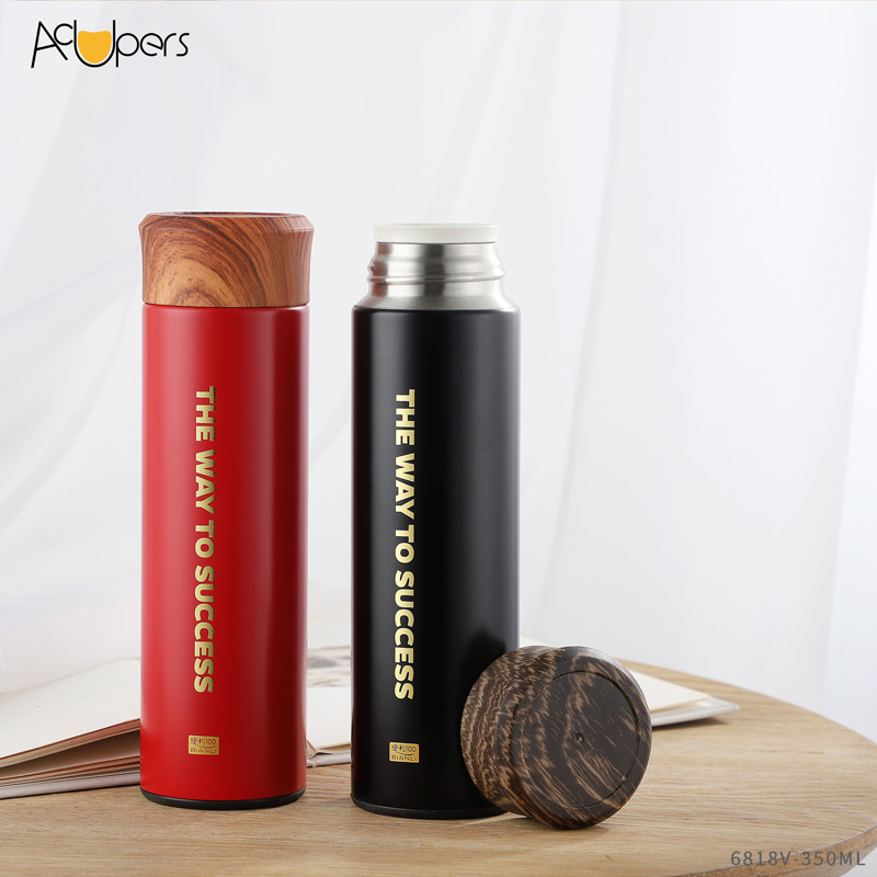350ml 12oz Classic Business Double Wall 316 Titanium Vacuum Flask Stainless Steel With Tea Infuser