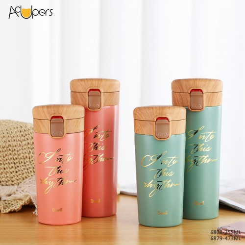 12oz 16oz Double Wall SUS 304 Vacuum Thermos Flask Coffee Cup Universal Car Cup
